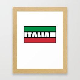 Italian Italy Flag Cool Graphic Italia Soccer Football Framed Art Print