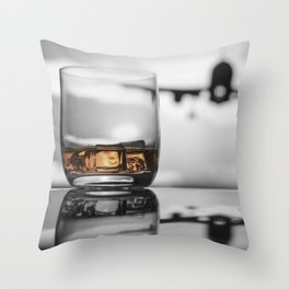 Airport on Ice Throw Pillow