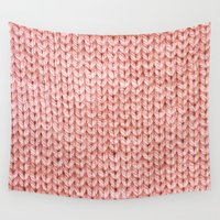 knit Wall Tapestries featuring Knit by Melissa Jackson