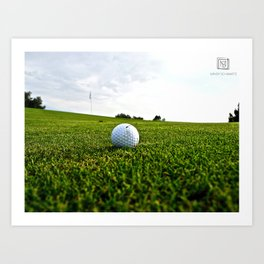 Golf Game Art Print