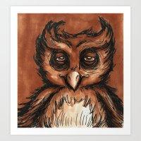owl don't care Art Print
