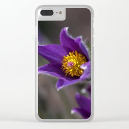 Purple Easter Flower Clear iPhone Case