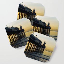 Paignton Pier At Sunrise Coaster