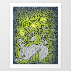 Medusa and the Gorgon Sisters Art Print