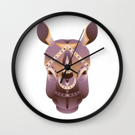 The head of rhino vector illustration. Abstract animal, icon, print, card, logo. Isolated on white Wall Clock