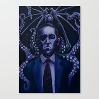 lovecraft Canvas Prints featuring Lovecraft by Mrtn Ljmn