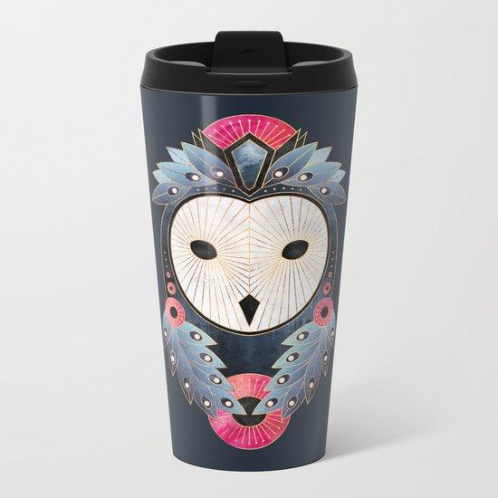Owl 1 - Dark Metal Travel Mug