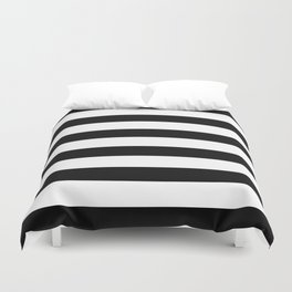 Simply Stripes in Midnight Black Duvet Cover