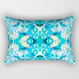 Turquoise staghorn repeat Rectangular Pillow