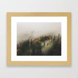 NW Fog Framed Art Print