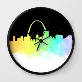 St. Louis Skyline Wall Clock