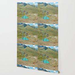 chairlift repair kaunertal alps tyrol austria europe Wallpaper