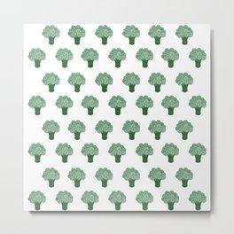 Pattern Green Broccoli  Metal Print