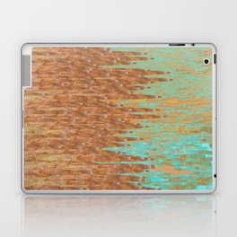 Jagged Turquoise and Copper Design Laptop & iPad Skin