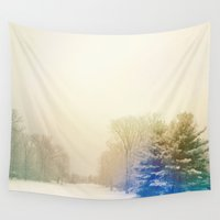 snow Wall Tapestries featuring Snow by Olivia Joy StClaire