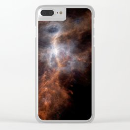 the hunter becomes fire | space #08 Clear iPhone Case