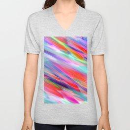 Colorful digital art splashing G399 Unisex V-Neck
