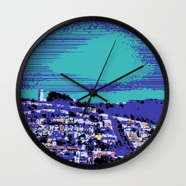 Night Over the San Francisco Mission Wall Clock