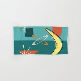 Turquoise Atomic Era Space Age Hand & Bath Towel