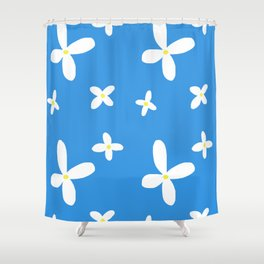 Classic Blue and White Flowers Shower Curtain