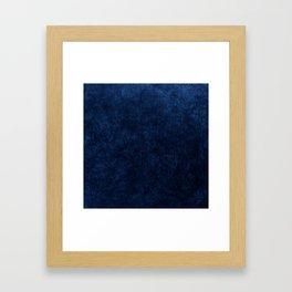 Royal Blue Velvet Texture Framed Art Print