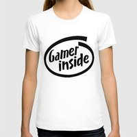 inside gaming T-shirts featuring Gamer iNSIDE by Blondie & Black Boy