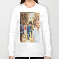 moscow Long Sleeve T-shirts featuring Moscow Metro by Eli Gross Art