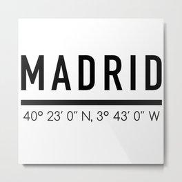 Madrid Metal Print