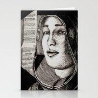 bianca Stationery Cards featuring Bianca Davri by Anca Chelaru