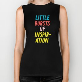 Little Bursts of Inspiration Biker Tank