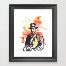 Indiana Jones Framed Art Print