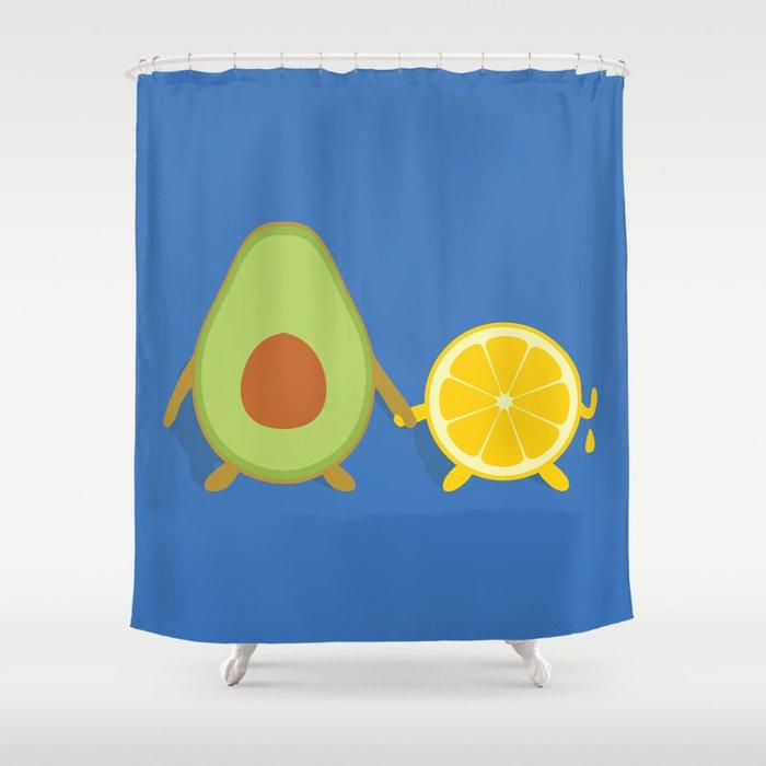 Avocado Lemon Shower Curtain