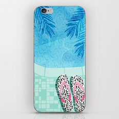Go Time - resort palm springs poolside oasis swimming athlete vacation topical island summer fun  iPhone & iPod Skin