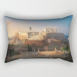 The Acropolis of Athens, Greece by Leo von Klenze Rectangular Pillow