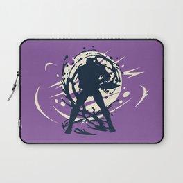 Black Japanese Ninja Warrior Fantasy Silhouette Laptop Sleeve