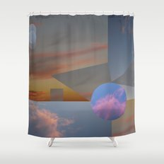 Clouds•triangles and circles cutting the skies!• ⁄ ⁄photography ƒrøm beløw!• Shower Curtain