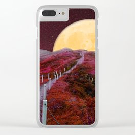 The Moon is This Way Clear iPhone Case