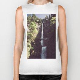 Multnomah Falls Waterfall - Nature Photography Biker Tank