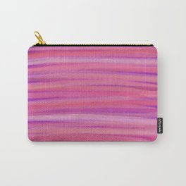 Springtime Blush Pink Striped Abstract Carry-All Pouch