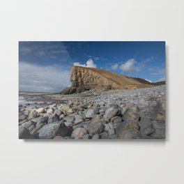 Nash Point Welsh Heritage Coast Metal Print