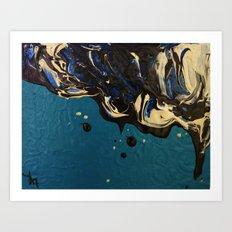 Oil and water - Oilspill Art Print