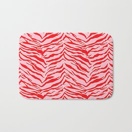 Tiger Print - Red and Pink Bath Mat