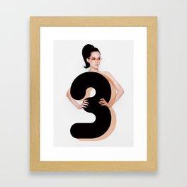 Lady 3 Framed Art Print