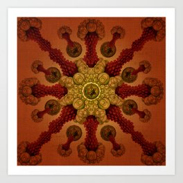 """Vintage Antique Starfish Haeckel Mandala"" Art Print"