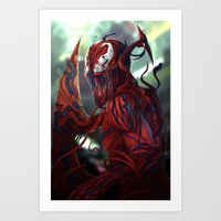 carnage Art Prints featuring Carnage by corverez