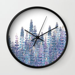 Lupine Love Wall Clock