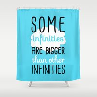fault in our stars Shower Curtains featuring Some Infinities - The Fault In Our Stars by Tangerine-Tane