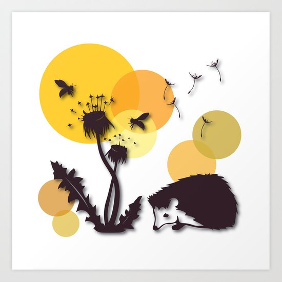 Dandelion And Hedgehog No. 3 Art Print