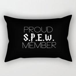 proud s.p.e.w. member // black Rectangular Pillow