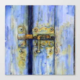 Rusty Lock Canvas Print